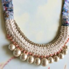 crochet pearl necklace