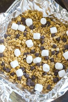 Gooey warm marshmallow and chocolate breakfast granola. Because your breakfast deserves it. Get the recipe.