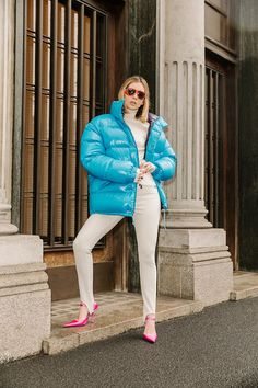 Moncler - A Street Icon Photography Vincenzo Schioppa Women's Puffer, Down Puffer Coat, Down Coat, Nylons, Moncler, Cool Jackets, Jackets For Women, Icon Photography, Winter Suit
