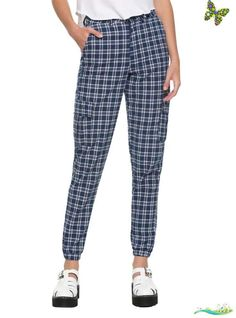 Daisy Street Blue Plaid Girls Cuffed Pants These jogger-style pants from Daisy Street are just what you need to feel comfy while stylin. With elasticated cuffs snap fastener closure patch pockets hip pockets and zipper and button closure.<br> These jogger-style pants from Daisy Street are just what you need to feel comfy while stylin. With elasticated cuffs, snap fastener closure patch pockets, hip pockets and zipper and button closure. 80% cotton; 20% polyester Wash cold; dry flat Imported… Slow Fashion, Autumn Fashion, Snap Pants, Fashion Joggers, Cuffed Pants, Girl Bottoms, Autumn Street Style, Blue Plaid, New York Fashion