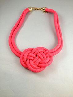 Love Knot Colar Necklace Paracord Necklace  Celtic Knot Necklace   Item 2212