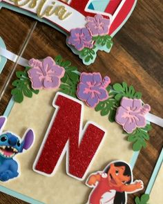 Lilo and Stitch high chair banner, Lilo and Stitch cake topper, Lilo and Stitch name banner Hawaiian Party Decorations, Hawaiian Decor, Kids Party Decorations, Party Ideas, Lilo And Stitch Movie, Lilo And Stitch Cake, Hawaiian Birthday, Luau Birthday, Kids Luau Parties
