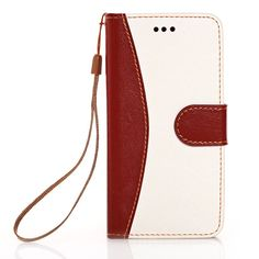 iPhone 6 Case KINGCOOL(TM) Elegant Flower Pattern Button Design Wallet Type PU Leather Flip Stand Hard Case Cover for Apple iPhone 6 4.7 Inch(White) Specially designed for Apple iPhone 4.7 inch Made of high quality PU leather material+magnetic flip design Includes slots to store your credit cards / business cards Provides great protection with easy installation Full access to all functions