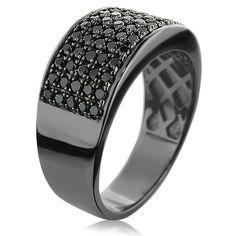 Black Diamond Male Wedding Bands | designer-10k-gold-black-diamond-wedding-band-for-men-167ct_2