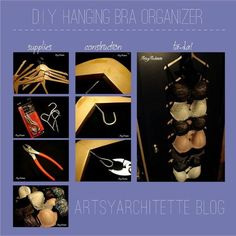 Make yourself a hanging bra organizer. 17 Ridiculously Good Tips For Anyone Who Wears A Bra Hanging Bras, Diy Hanging, Bra Hanger, Bra Storage, Clothes Storage, Easy Storage, Storage Ideas, Bra Organization, Sewing Patterns
