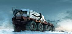 Rob Watkins Art Director Arctic Explorer A huge Russian land ship used to explore vast tundra environments Science Fiction, Snow Vehicles, Arctic Explorers, Steampunk, 3d Studio, Expedition Vehicle, Cyberpunk Art, Armored Vehicles, Sci Fi Art