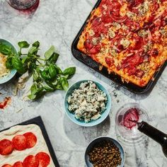 Whether you pick Neapolitan, Detroit-style or Chicago deep dish, these three pizza recipes are easy to make and sure to please. Just don't forget the wine. Food Mills, Best Comfort Food, Meat And Cheese, Deep Dish, Roasted Tomatoes, Dry Yeast, Pizza Recipes, Pepperoni