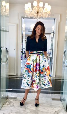 Midi Skirt, Lady, My Style, Floral, Skirts, Outfits, Dresses, Fashion, Vestidos