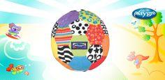 0111783 Mi Primer Balón de #Actividades de #Playgro Al #bebé le encantará jugar con su primer balón de #actividades, con brillantes colores y diferentes texturas. Acolchado y de tacto suave, que #estimula la motricidad del #bebé. Diseñado para despertar el interés por aprender al #bebé.