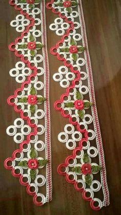 HUZUR SOKAĞI (Yaşamaya Değer Hobiler) Crochet Lace Edging, Crochet Doilies, Crochet Flowers, Crotchet Patterns, Baby Knitting Patterns, Crochet Letters, Bargello, Crochet Crafts, Holidays And Events