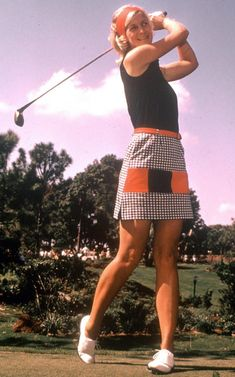 The 70's peaked with the blending of color and pattern. Golf attire became more functional. flexible and comfortable.
