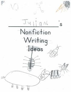 A Place Called Kindergarten: nonfiction writing try-its