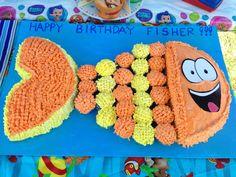 Mr. Grouper birthday cake. Bubble guppies. Cupcake cake. Finding Nemo. Finding Dory.