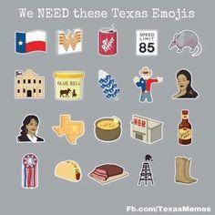 20 Emojis All Texans Wish Existed Texas Quotes, Texas Humor, Texas Funny, Texas Shirts, Texas Forever, Loving Texas, Texas Pride, Lone Star State, Stars At Night