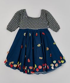 Loving this Navy Kamal Hariette Dress - Toddler & Girls on #zulily! #zulilyfinds