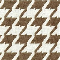 Bohemian 85 Sand Brown Houndstooth Upholstery Fabric - SW29772 - Fabric By The Yard At Discount Prices