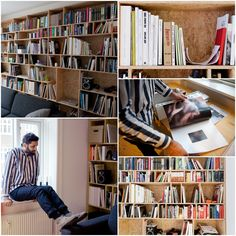 Sacha Maric's gorgeous OSB bookshelves.