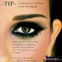 A tip to save your Kohl from tripping off your eyes & keeping that Killer look in place.   #kohl #eyes #killer #eye #tip #tips #tipoftheday #fashizasecrets #fashizaway #makeup #instamakeup #cosmetics #TFLers #fashion #eyeshadow #mascara #palettes #eyeliner #powder #base #beauty #beautiful #Fashiza