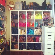 "Dulce Candy on Instagram: ""Organized my purses!"""