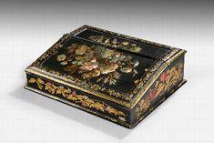 Antique Fine 19th Century Papier -Mâché Travelling Desk