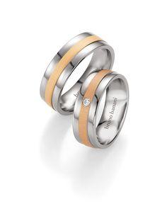Βέρες Γάμου BRUNO BANANI από Τιτάνιο Δίχρωμες με Ζιργκόν Αναφορά 014418 Ζευγάρι βέρες γάμου από τιτάνιο σε λευκό και ροζ χρώμα. Η γυναικεία βέρα είναι διακοσμημένη με ημιπολύτιμη πέτρα. Το φάρδος της κάθε βέρας είναι 7 χιλιοστά. Η τιμή αφορά το ζευγάρι βέρες. Bruno Banani, Wedding Rings, Engagement Rings, Jewelry, Enagement Rings, Jewlery, Jewerly, Schmuck, Jewels