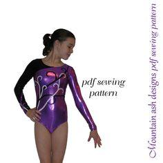 Leotards 5 pdf sewing pattern Gymnastics Dance by tumblentwirl