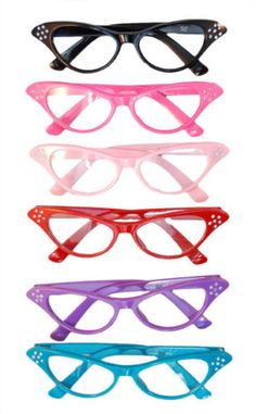 love this sports sunglasses site!Sunglasses for everyone need at summer? Greece Costume, Poodle Skirt Costume, Lindy Bop Dress, I Love Lucy, Cat Eye Glasses, Pretty Eyes, Material Girls, Retro Vintage, Vintage Cat