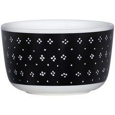 Marimekko Muija Bowl ($24) ❤ liked on Polyvore featuring home, kitchen & dining, serveware, polka dot bowl, marimekko, stoneware bowl and dot bowl