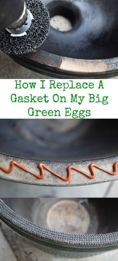 How to replace Big Green Egg kamado grill gasket seal