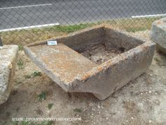 Stone laundry trough with nice old patina