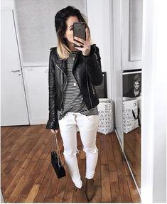 El estilo de Audrey Lombard Fall Outfits, Casual Outfits, Cute Outfits, Look Fashion, Fashion Outfits, Womens Fashion, Look Jean, Style Minimaliste, Just Style