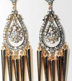 Deadly Jewelry Embellishments - The Luxirare Spike Drop Earrings are Heavenly and Unique (GALLERY)