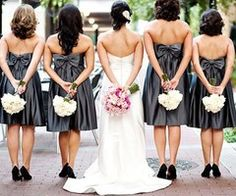 cool bridesmaids and bride photo