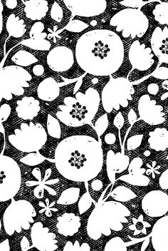 clear cut flowers - black and white by ottomanbrim - Black and white floral print on fabric, wallpaper, and gift wrap.