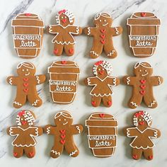 Gingerbread Lattes (Cookies) for all!