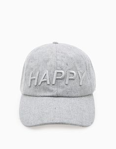 Cap with 'happy' message Mary Kay Colombia, Happy Black, Cute Hats, Basic Style, Mens Caps, Swagg, Baseball Hats, Style Inspiration, Black And White