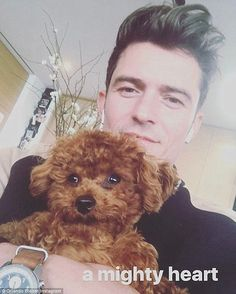 Orlando Bloom cuddles up to ex Katy Perry's adorable dog   Daily Mail Online