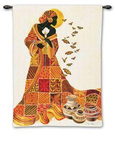 Fine Art Tapestries Souls Flight Wall Tapestry, As Shown African American Art, African Women, African Art, American Artists, African Culture, Canvas Wall Art, Wall Art Prints, Canvas Prints, Acrylic Art