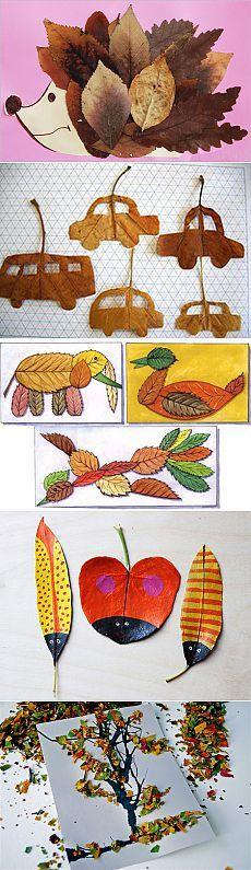 Поделки из природных материалов: поделки из листьев | вТему