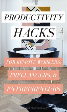 Working from Home Productivity Hacks for Remote Workers, Freelancers, & Entrepreneurs Working from home productivity hacks for the modern-day remote worker, freelancer, entrepreneur or digital nomad! Finance, Work Productivity, Start Ups, Work From Home Tips, Time Management Tips, Business Management, Project Management, Home Hacks, Getting Things Done