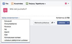 #Facebook-sivuilla voi nyt kohdentaa julkaisujaan sivusta tykkäävien kesken #some #somefi #somevinkki Facebook