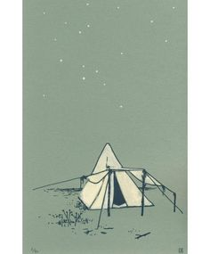 Gorgeous camping print. Love the green shade. From etsy, a wonderfully simple and lovely site.