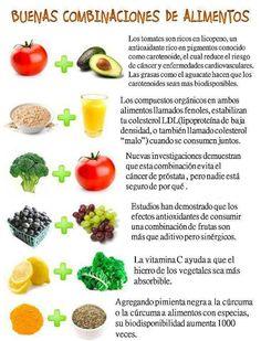Buenos alimentos para consumir combinados. #nutrición #salud