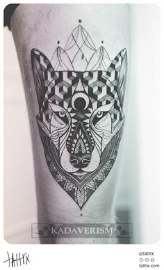 Kadaverism Tattoo - Wolf for Danny