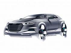 Audi Crosslane Coupé Concept: design sketches - Car Body Design