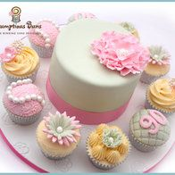 Big Cake Little Cakes : Peony Rose