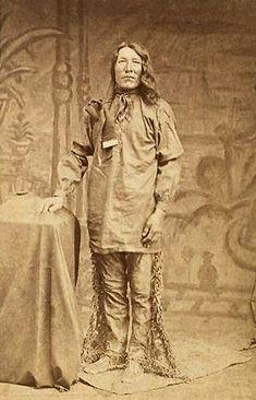 An old photograph of a Yankton Man c1875