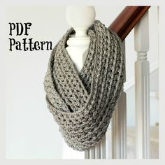 PATTERN ONLY Basic Chunky Infinity Scarf by FavouriteThingsShop