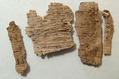 A group of 4 ancient Egyptian papyrus fragments Egyptian, Group, Design, Design Comics