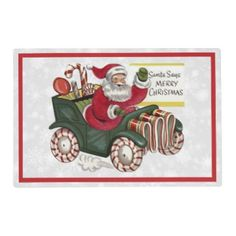 Christmas Greetings 1 Placemat - merry christmas diy xmas present gift idea family holidays